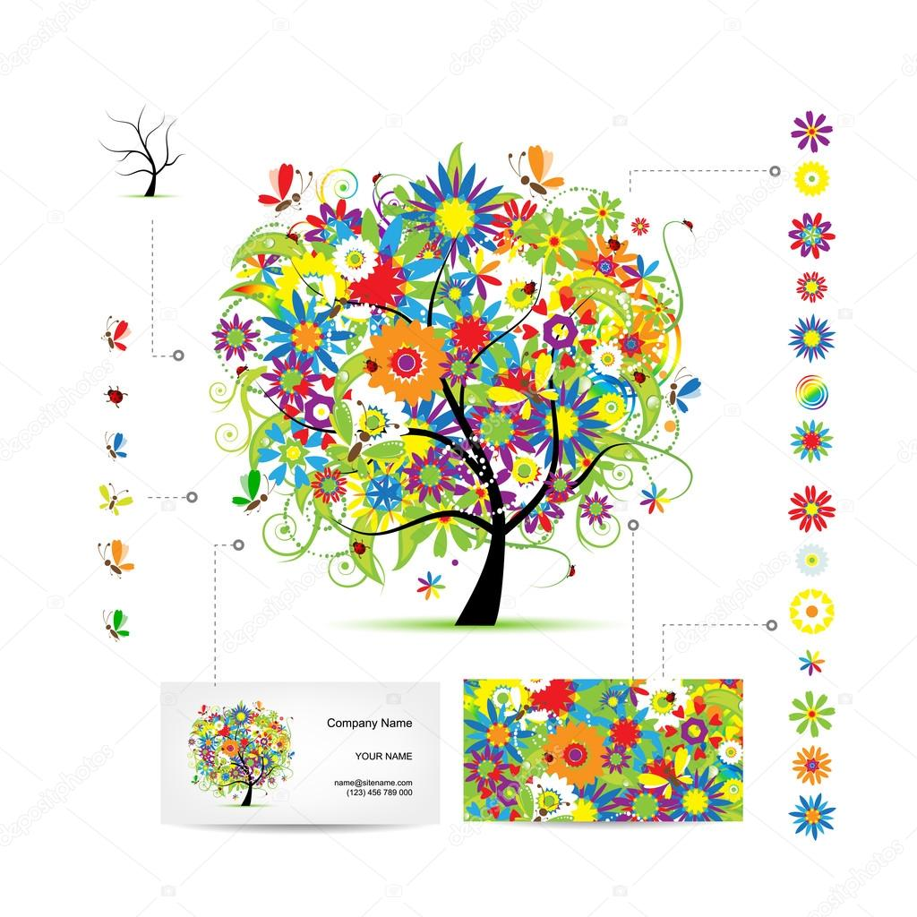 Infographic tree with funny birds business card template stock infographic tree with funny birds business card template stock vector cheaphphosting Images