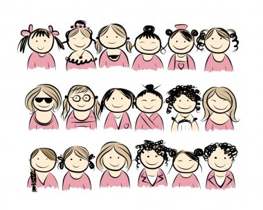 Group of women for your design