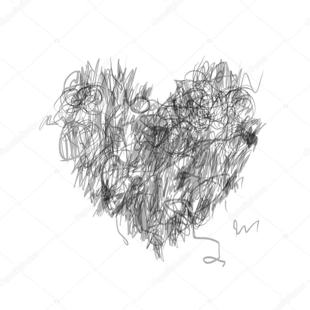 Kresba Pro Vas Navrh Tuzkou Tvar Srdce Stock Vektor C Kudryashka