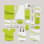 Corporate business style, abstract design green