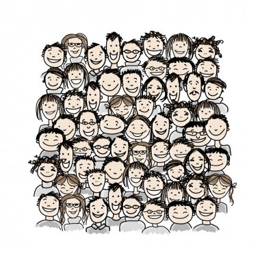 Bir grup insan, tasarımınız için çizim yapın.