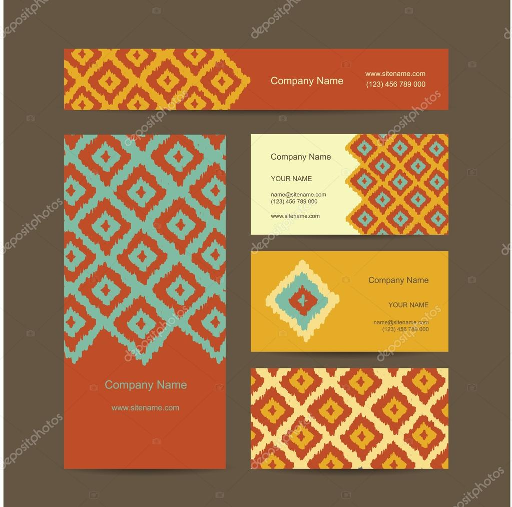 Business cards design geometric fabric pattern stock vector business cards design geometric fabric pattern stock vector colourmoves