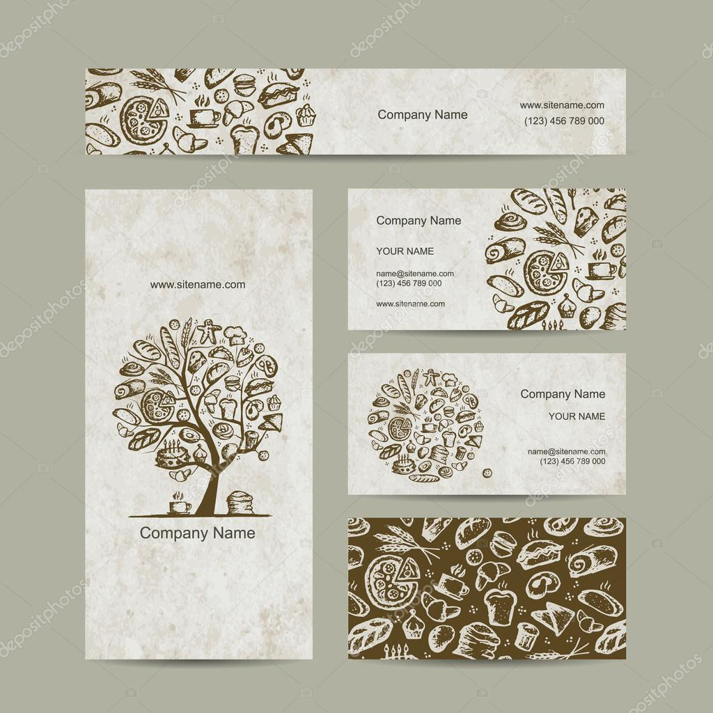 Bakery, business cards design