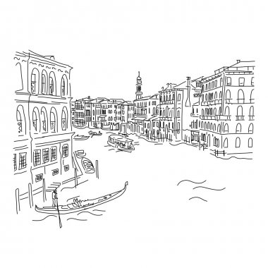 Venice, Grand Canal. Sketch for your design