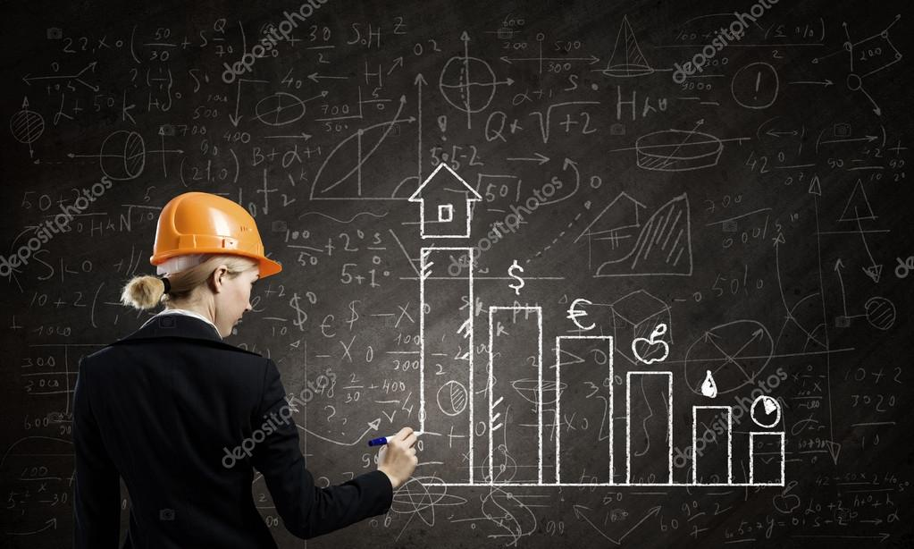 Frau Ingenieur Stockfoto C Sergeynivens 55185781