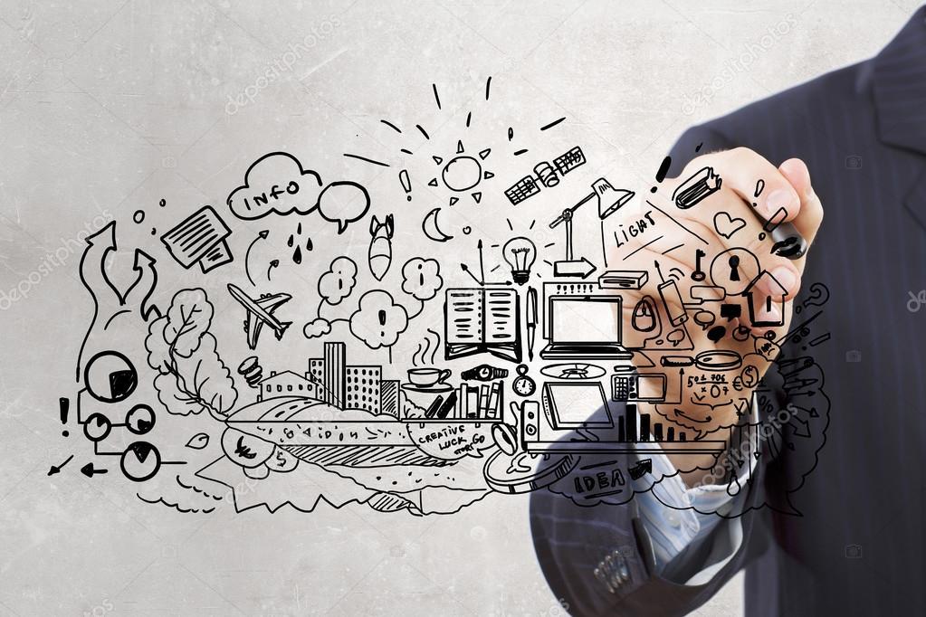 Bedrijfsplan. Concept afbeelding — Stockfoto © SergeyNivens #87070818