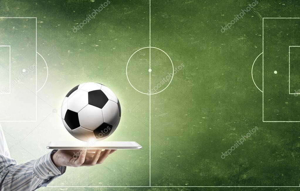 Juego De Futbol Online Foto De Stock C Sergeynivens 97019766