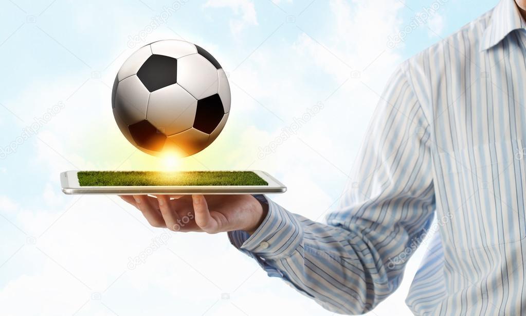 Juego De Futbol Online Foto De Stock C Sergeynivens 97539120