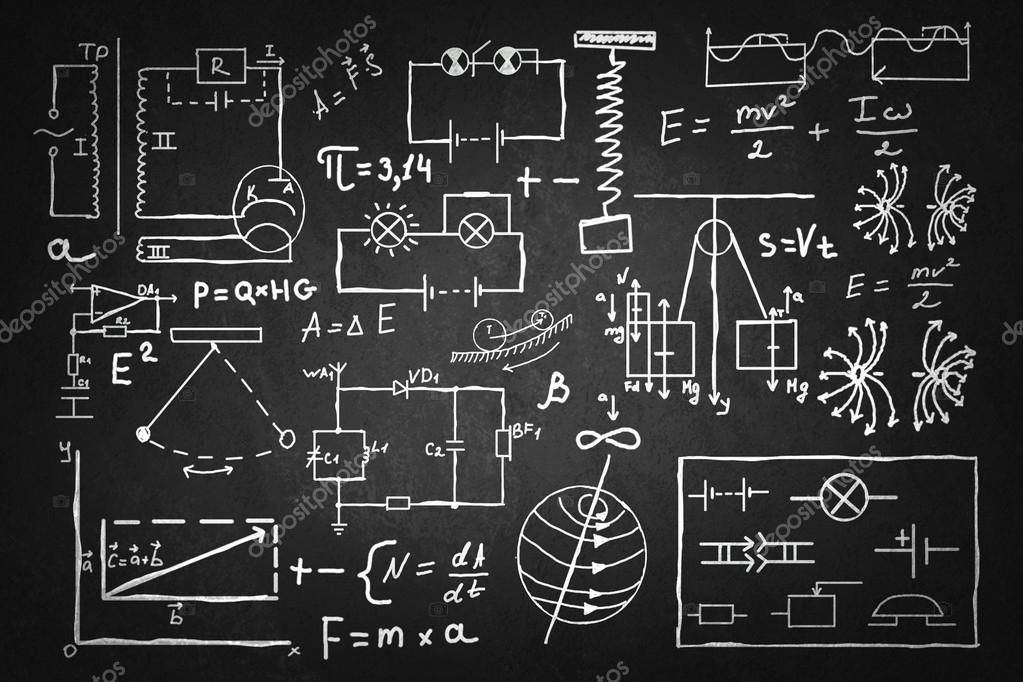 Conhecido Fórmulas de física a bordo — Stock Photo © SergeyNivens #98463816 HP96