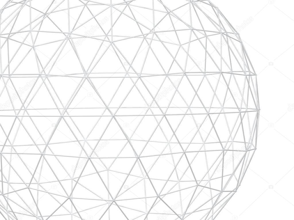 Abstrakt, weißer Hintergrund mit 3d Gitter — Stockfoto © frenta ...