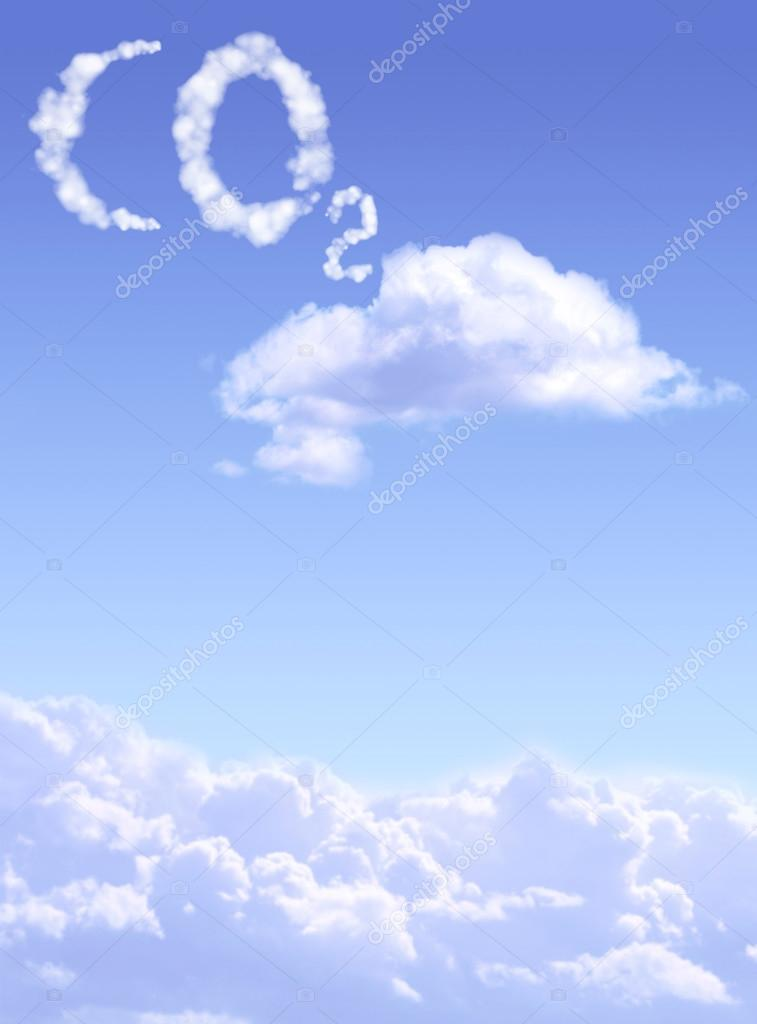 Symbol Co2 From Clouds Stock Photo Frenta 116674386