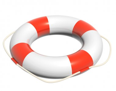 3d lifebuoy. Object isolated on white background stock vector