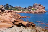 Photo Pink granite coast in Brittany, France