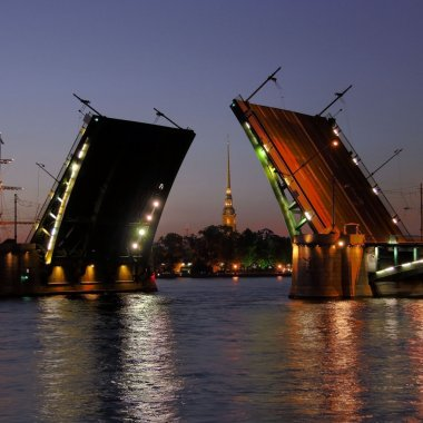 Peter and Paul Fortress and open Stock Bridge
