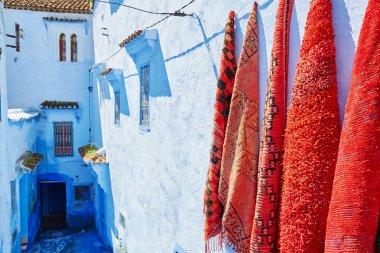 "Картина, постер, плакат, фотообои ""улица в chefchaouen, morocco "", артикул 73392181"