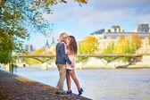 Fotografie Mladý romantický pár v Paříži