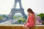 Fotografie Young beautiful and elegant Parisian woman