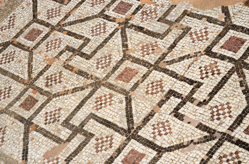 Mosaik Boden des antiken römischen Villa mit antiken geometrische ...
