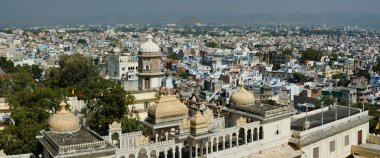 Panorama of Udaipur city, view from city palace ,Rajasthan,India