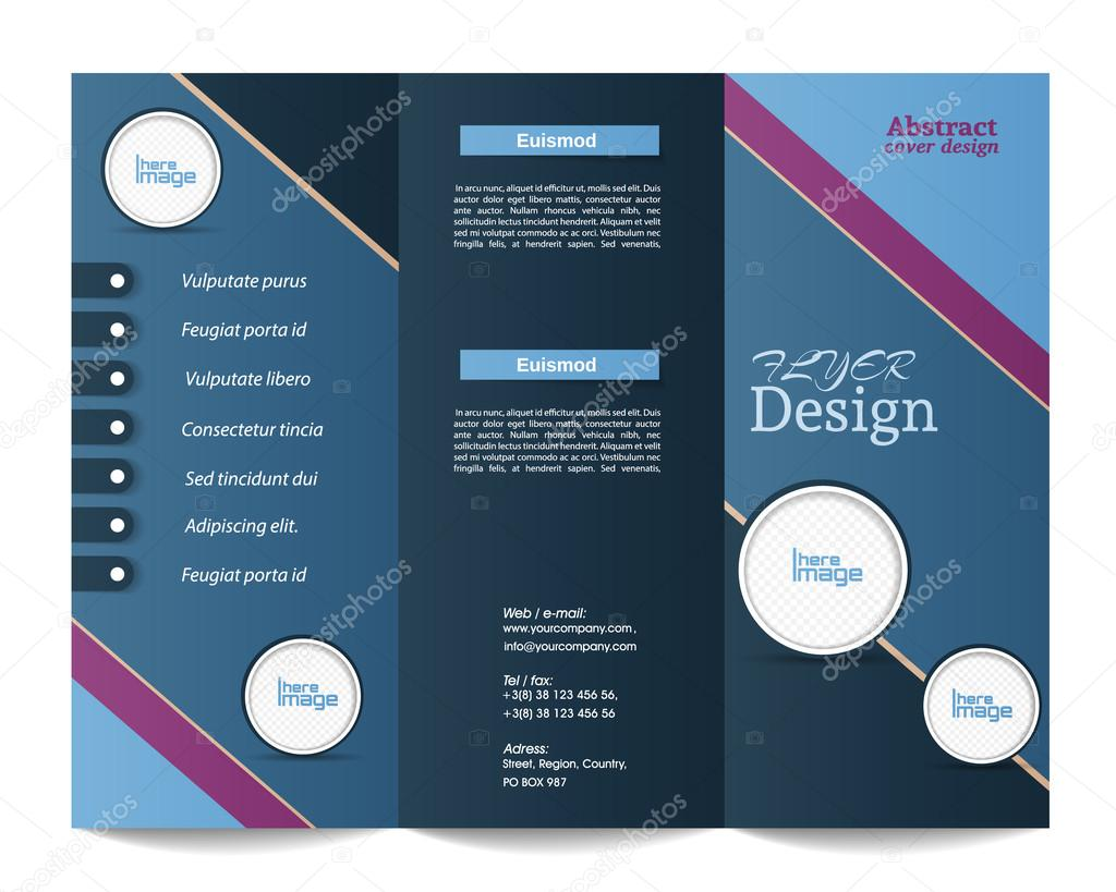 Tri Fold Brochure Templaterporate Business Background Or Cove