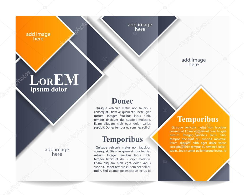 Trifold Brochure Template Stock Vector Darts - Tri fold brochures templates