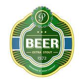 Fotografie Green beer bottle label template