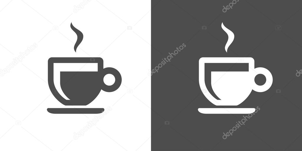 Espresso Icon Two Tone Version Of Vector On White And Black Background Coffee Brewed By Forcing A Small Amount Nearly Boiling Water Under