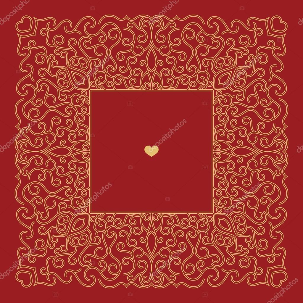 Wedding invitation card template — Stock Vector © frbird #93160510
