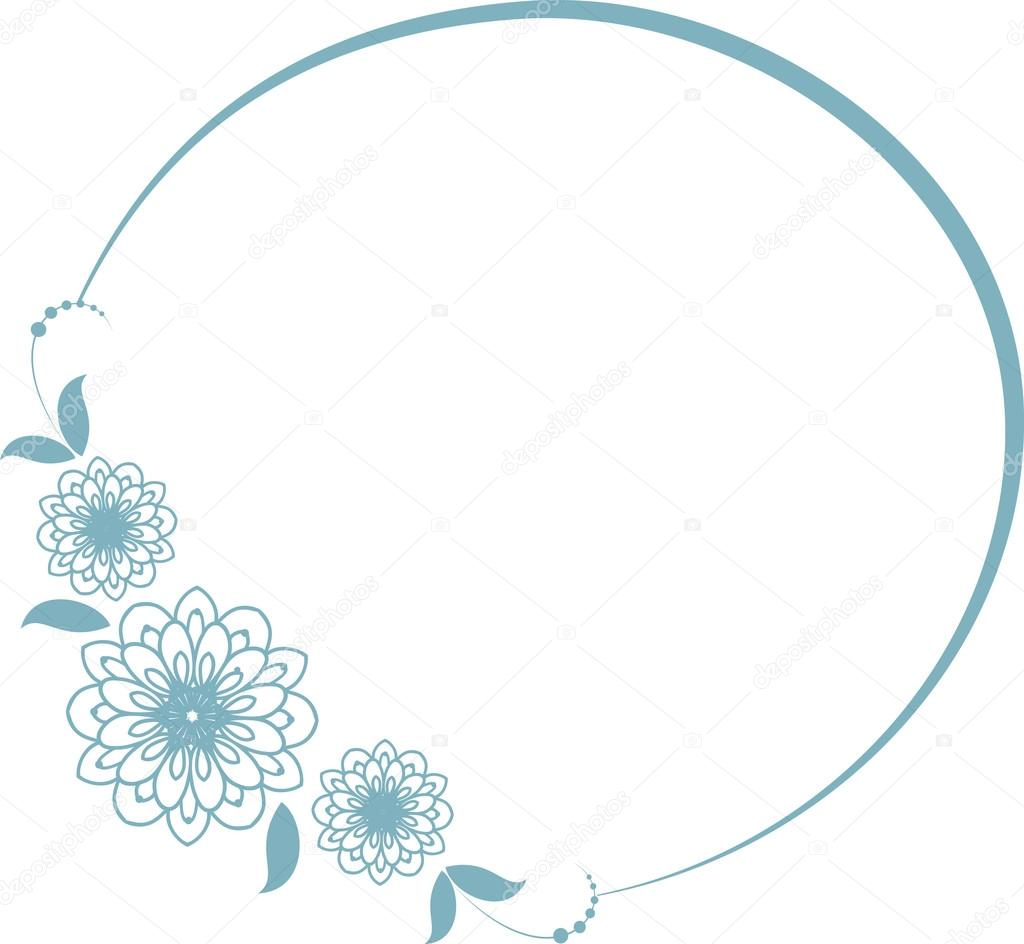 Round frame with decorative branch vector illustration stock - Round Frame With Decorative Branch Stock Vector 110774464