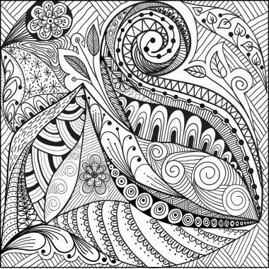 decorative floral doodles