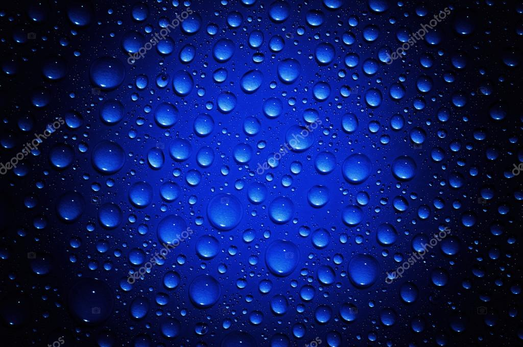Background of water drops