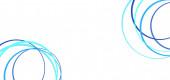Abstraktní modré kruhy na bílém