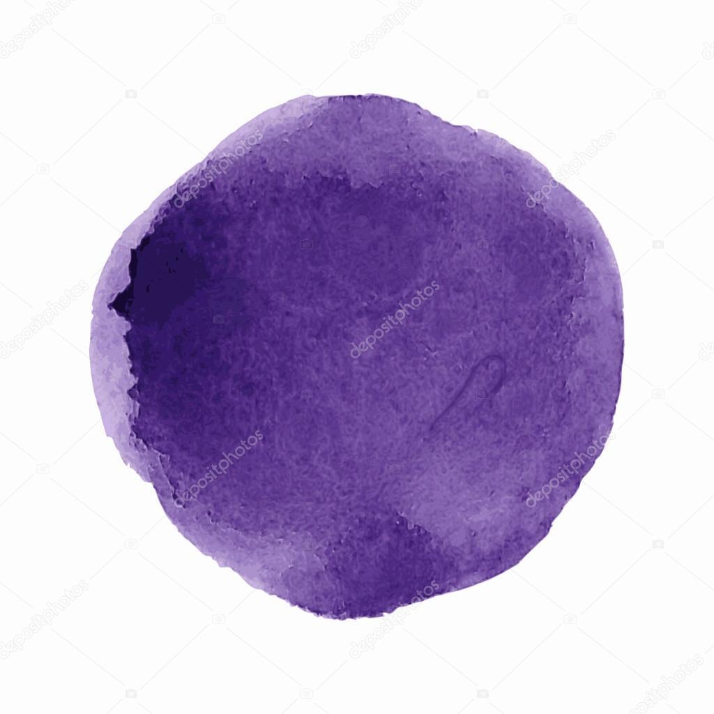 Watercolor paint circle