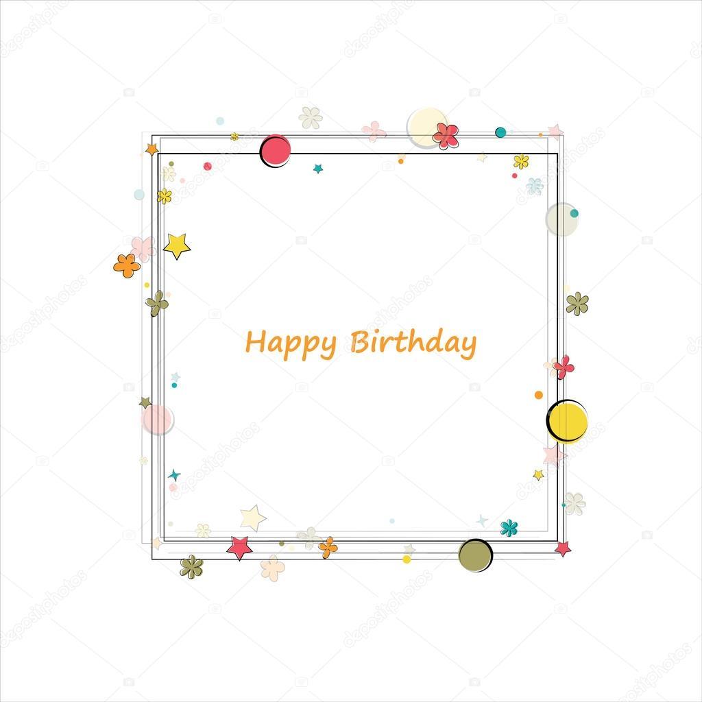Gelukkige Verjaardag Frame Stockvector C Djemphoto 87746930