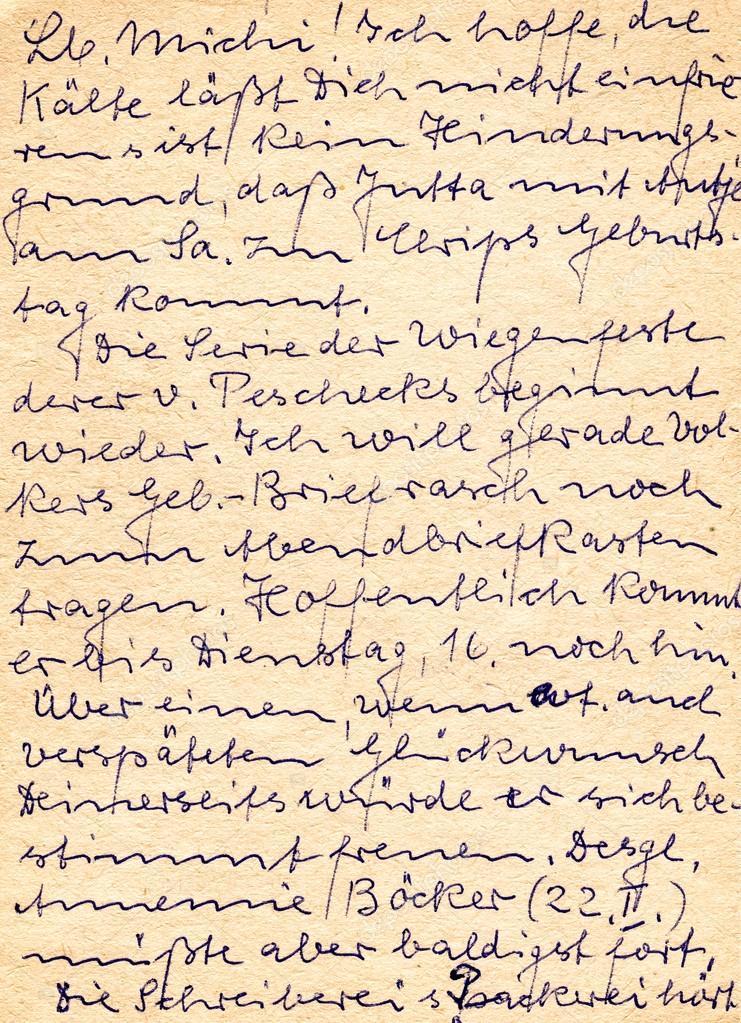 Fragment Einer Alten Handschriftlichen Brief Geschrieben In
