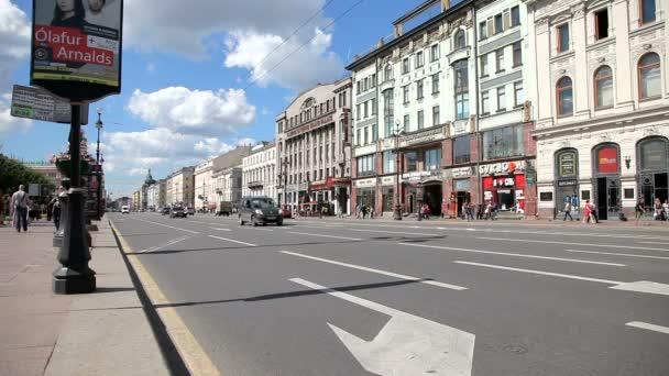 A Nevsky Prospect, St. Petersburg, Oroszország-ban Kilátás