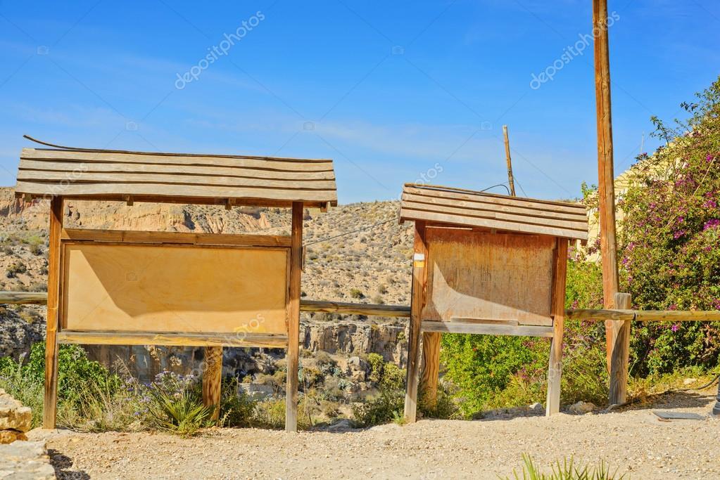 Old wooden billboards