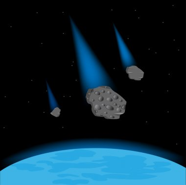 Meteorites fall on planet