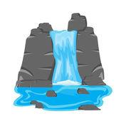 Vodopád mezi kámen