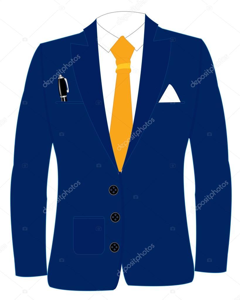 Blauen Anzug Und Krawatte Stockvektor Cobol1964 80909422