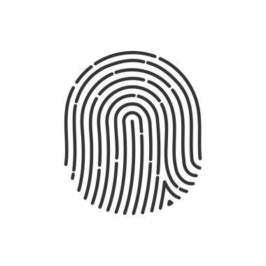 fingerprint Icon Image. Flat. fingerprint icon app