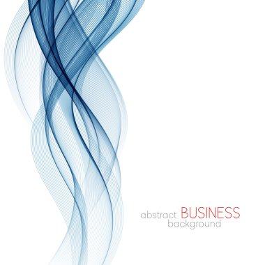 Abstract background, blue transparent waved lines for brochure, website, flyer design. Blue smoke wave. Blue wavy background stock vector