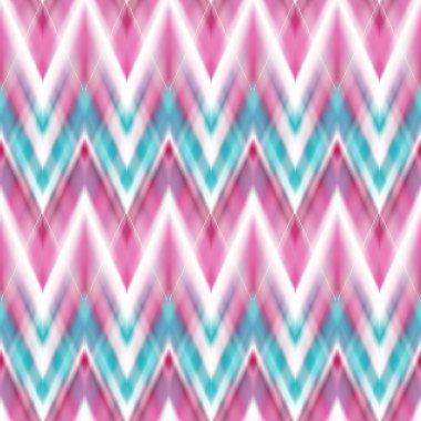 Seamless ikat ethnic pattern. Boho design. Ethnic Colored seamless zigzag patten stock vector