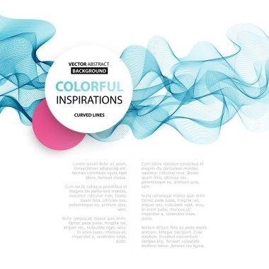 Vector Abstract smoky waves  background. Template brochure design clip art vector