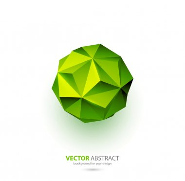 Vector geometric background with triangles