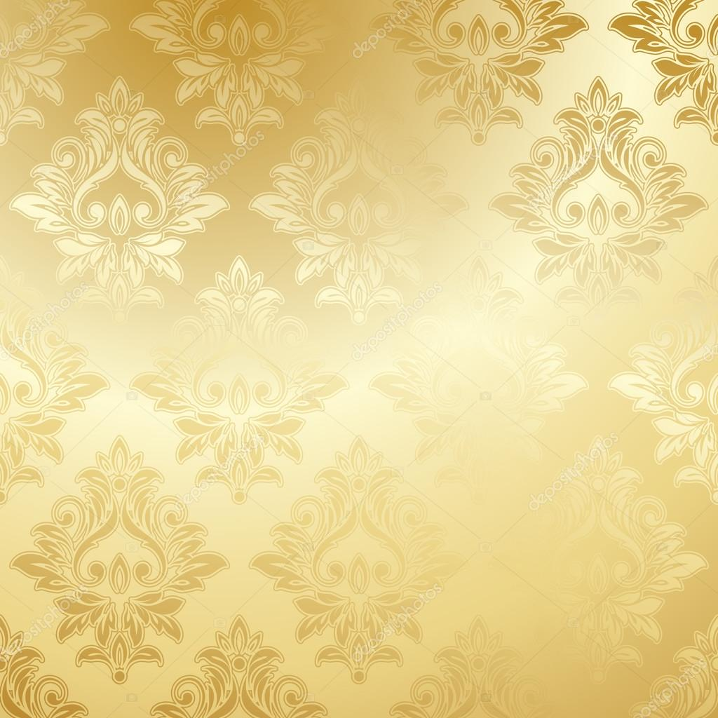 Luxury Golden Wallpaper Vintage Floral Pattern Vector Background By Strizh