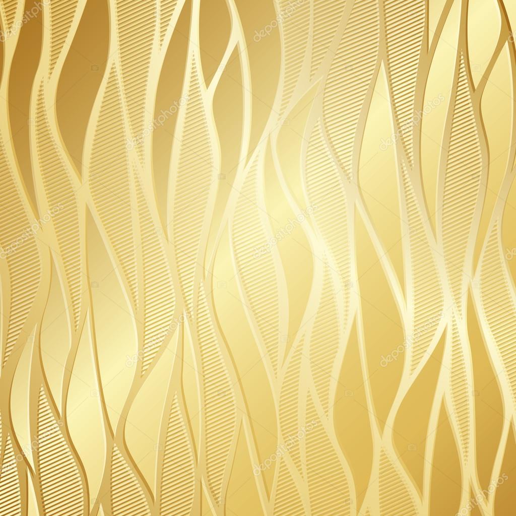 Luxury Golden Floral Wallpaper Stock Vector