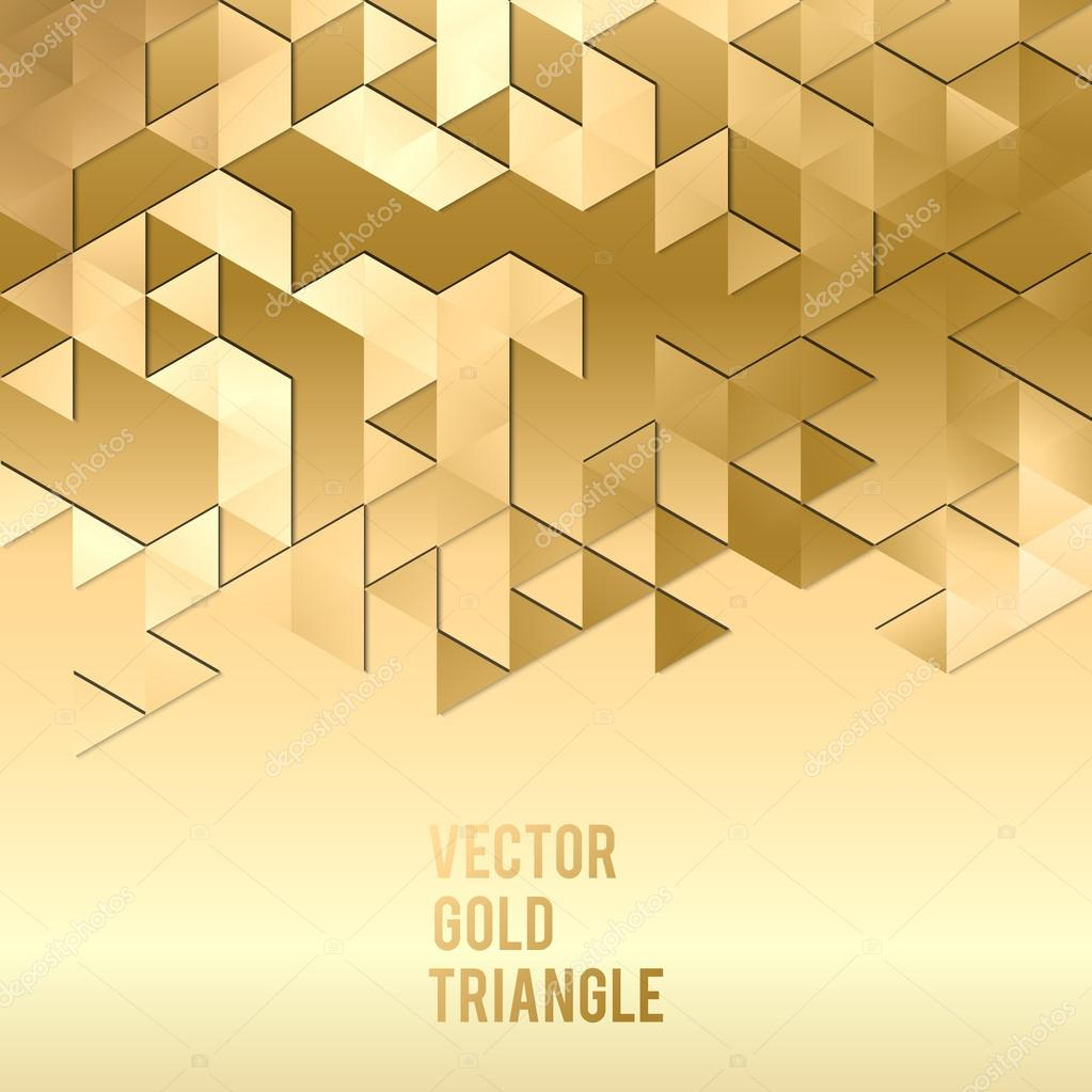 banner design abstract template background with gold triangle