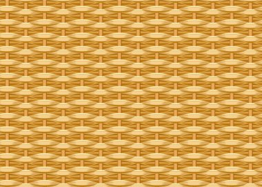 Seamless braided background. Wicker straw. Woven willow twigs. Wicker texture