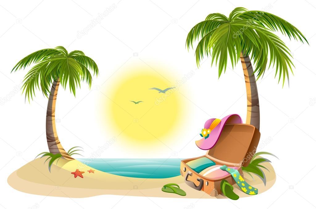 Vacances à La Plage Sur Les Vacances D été Soleil Tropical